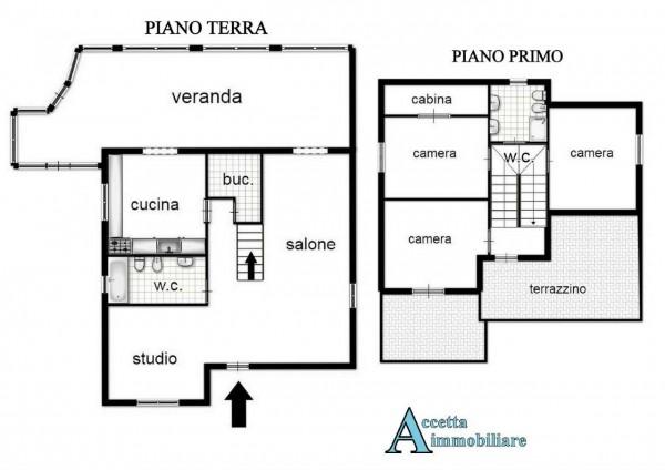 Villa in vendita a Taranto, Residenziale, Con giardino, 190 mq - Foto 2