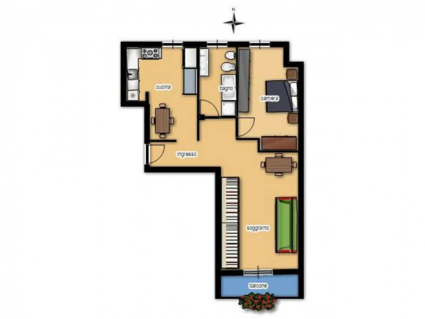 Appartamento in vendita a Senago, Centrale, 74 mq - Foto 2