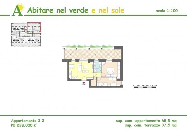 Trilocale in vendita a Agrate Brianza, 68 mq - Foto 2