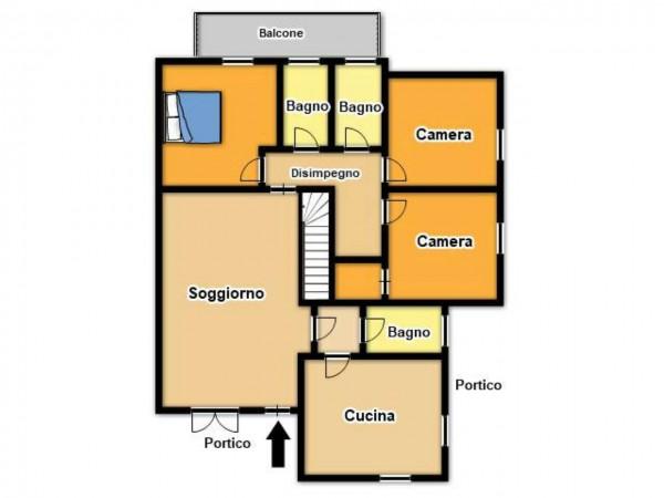 Villa in vendita a Botticino, Con giardino, 200 mq - Foto 3
