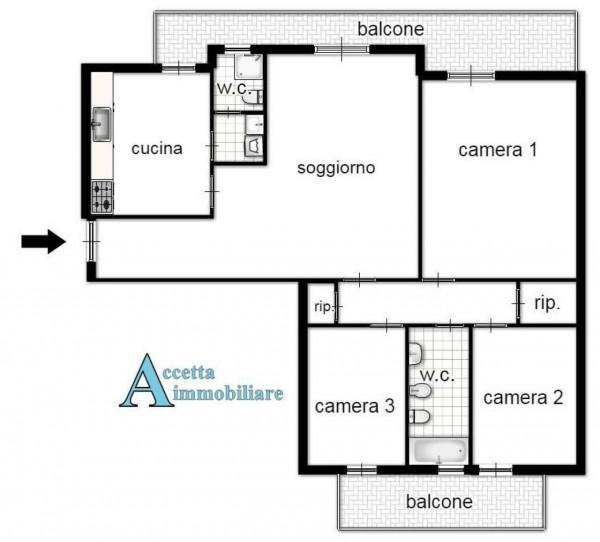 Appartamento in vendita a Taranto, Semi-centrale, 120 mq - Foto 2