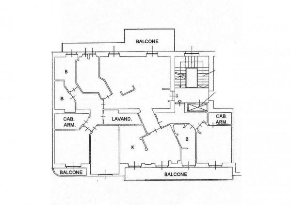 Appartamento in vendita a Milano, Domenichino / Mosè Bianchi, 215 mq - Foto 7