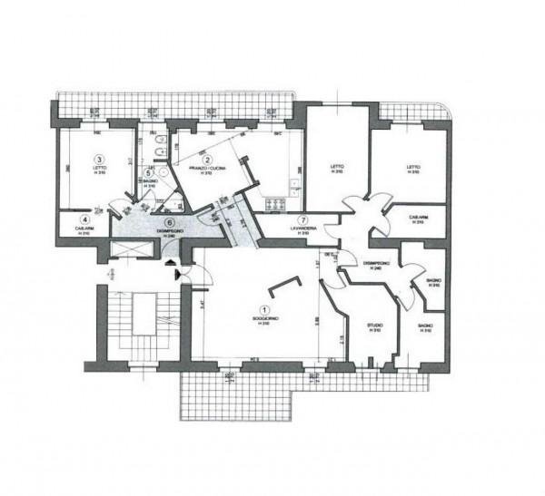 Appartamento in vendita a Milano, Domenichino / Mosè Bianchi, 215 mq - Foto 13