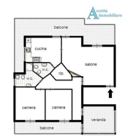 Appartamento in vendita a Taranto, Residenziale, Con giardino, 130 mq - Foto 2