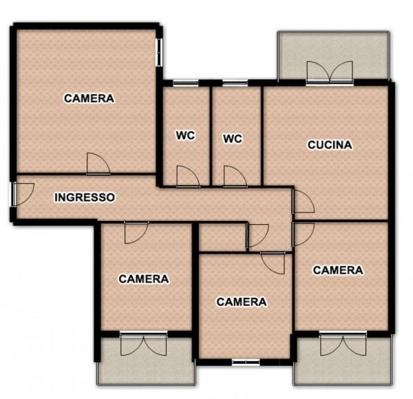 Appartamento in affitto a Sant'Anastasia, Con giardino, 120 mq - Foto 2