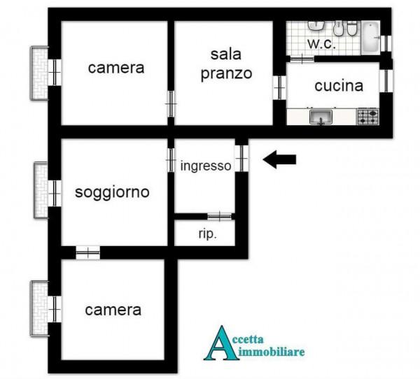 Appartamento in vendita a Taranto, Centrale, Arredato, 108 mq - Foto 2