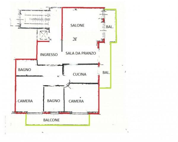Appartamento in vendita a Alpignano, Centro, Con giardino, 110 mq - Foto 10