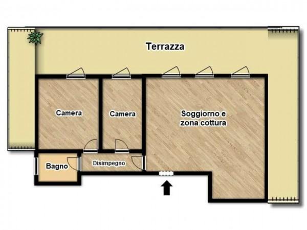 Appartamento in vendita a Brescia, Con giardino, 106 mq - Foto 3