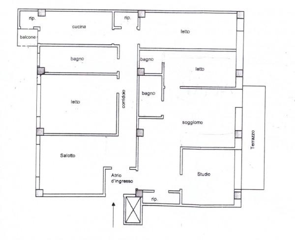 Appartamento in vendita a Roma, Porta Metronia, 140 mq - Foto 2