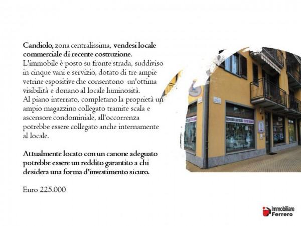 Negozio in vendita a Candiolo, Centralissima, 96 mq - Foto 2