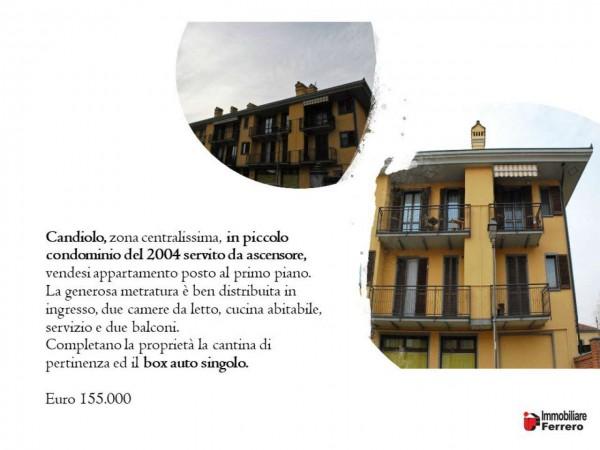 Appartamento in vendita a Candiolo, Centralissima, Con giardino, 72 mq - Foto 2