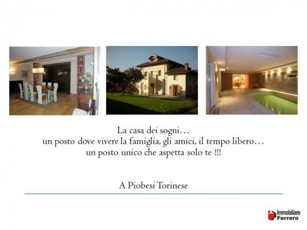 Villa in vendita a Piobesi Torinese, Piobesi, Con giardino, 577 mq - Foto 2
