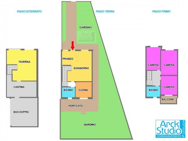 Villa in vendita a Cassano d'Adda, Arckstudio, Con giardino, 204 mq - Foto 3