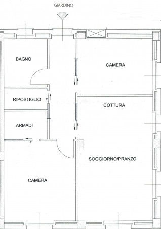 Appartamento in vendita a Recco, Centrale, Con giardino, 80 mq - Foto 13