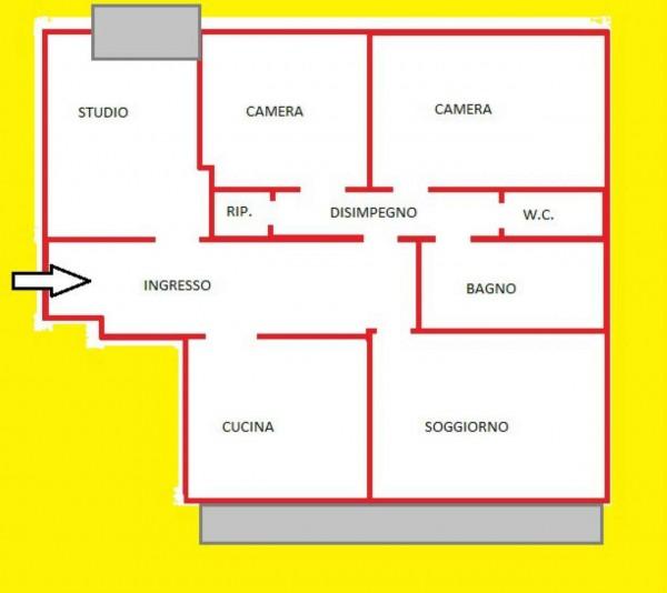 Appartamento in vendita a Forlì, Medaglie D'oro, Con giardino, 101 mq - Foto 2