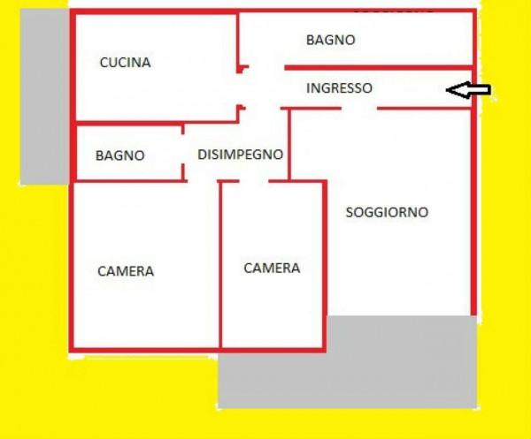 Appartamento in vendita a Forlì, Viale Spazzoli, Con giardino, 89 mq - Foto 2
