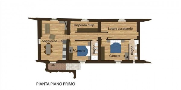 Appartamento in vendita a Monteriggioni, 120 mq