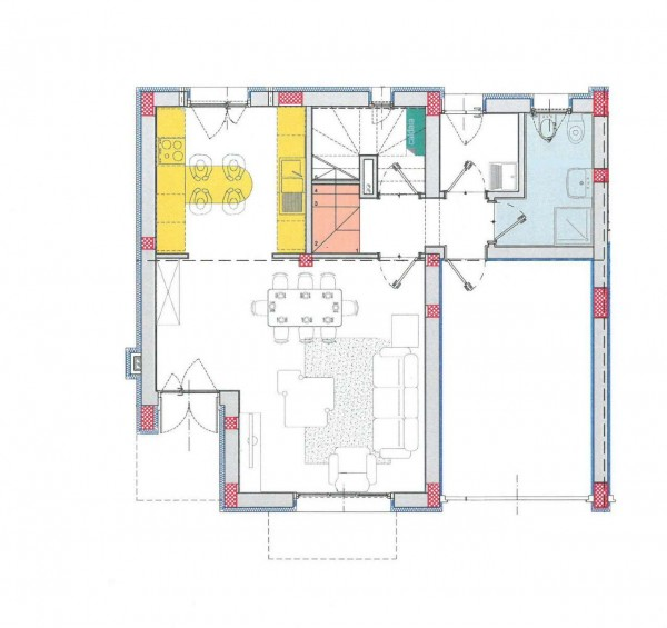 Villetta a schiera in vendita a Borghetto Lodigiano, Residenziale, Con giardino, 174 mq - Foto 4