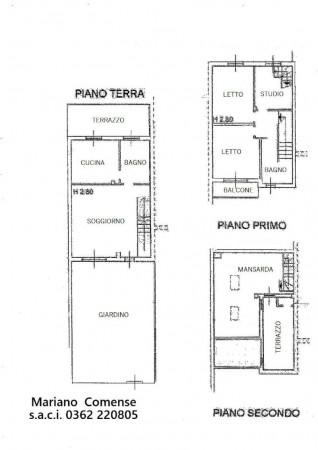 Villetta a schiera in vendita a Mariano Comense, Mercato, Con giardino, 220 mq - Foto 3