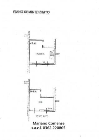 Villetta a schiera in vendita a Mariano Comense, Mercato, Con giardino, 220 mq - Foto 2