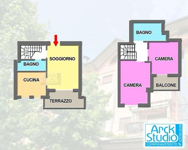 Appartamento in vendita a Cassano d'Adda, Ospedale, Con giardino, 100 mq - Foto 2
