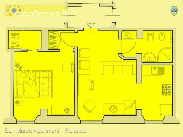 Appartamento in affitto a Firenze, 49 mq - Foto 2