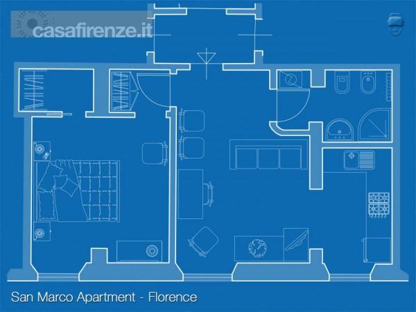 Appartamento in affitto a Firenze, 49 mq - Foto 17