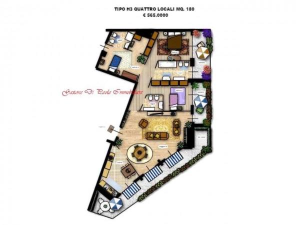 Appartamento in vendita a Milano, Con giardino, 156 mq - Foto 13
