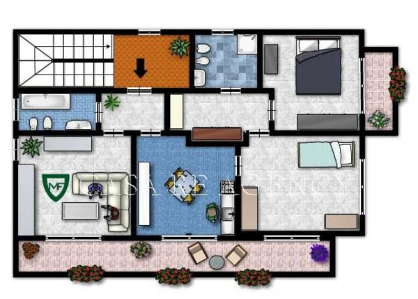Appartamento in vendita a Induno Olona, Arredato, con giardino, 158 mq - Foto 3