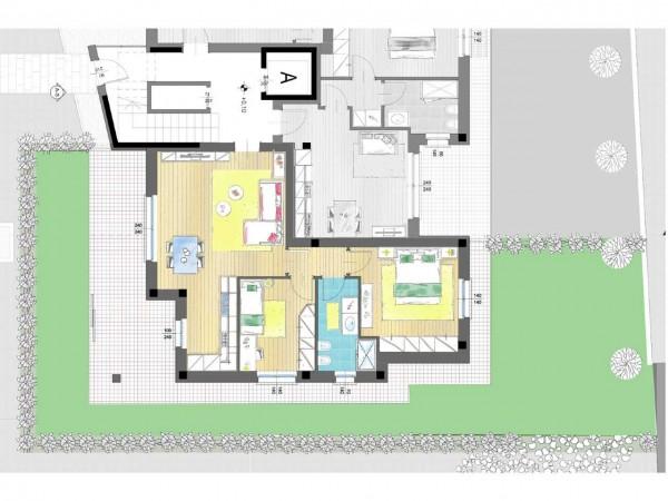 Appartamento in vendita a Cassano d'Adda, Groppello, Con giardino, 63 mq - Foto 6