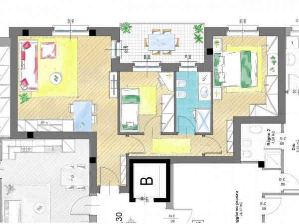 Appartamento in vendita a Cassano d'Adda, Groppello, Con giardino, 63 mq - Foto 3
