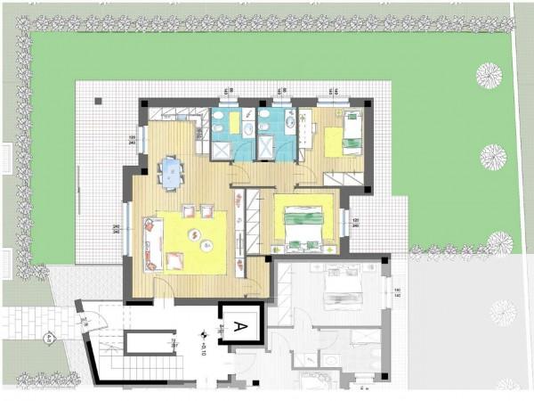 Appartamento in vendita a Cassano d'Adda, Groppello, Con giardino, 63 mq - Foto 11