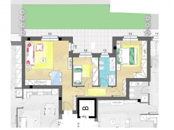 Appartamento in vendita a Cassano d'Adda, Groppello, Con giardino, 63 mq - Foto 8