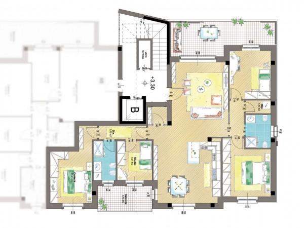 Appartamento in vendita a Cassano d'Adda, Groppello, Con giardino, 63 mq - Foto 7
