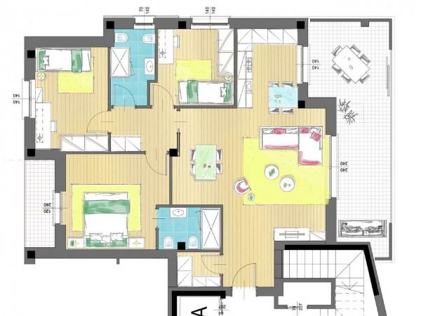 Appartamento in vendita a Cassano d'Adda, Groppello, Con giardino, 63 mq - Foto 12