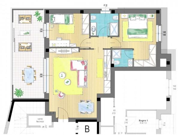Appartamento in vendita a Cassano d'Adda, Groppello, Con giardino, 63 mq - Foto 2
