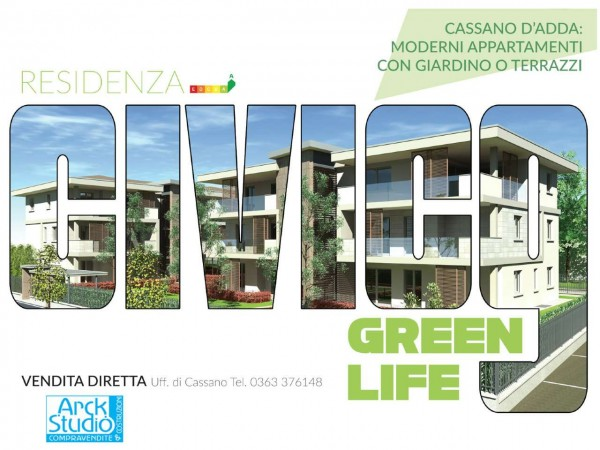 Appartamento in vendita a Cassano d'Adda, Groppello, Con giardino, 63 mq - Foto 14