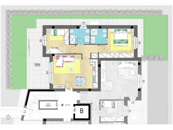Appartamento in vendita a Cassano d'Adda, Groppello, Con giardino, 63 mq - Foto 10