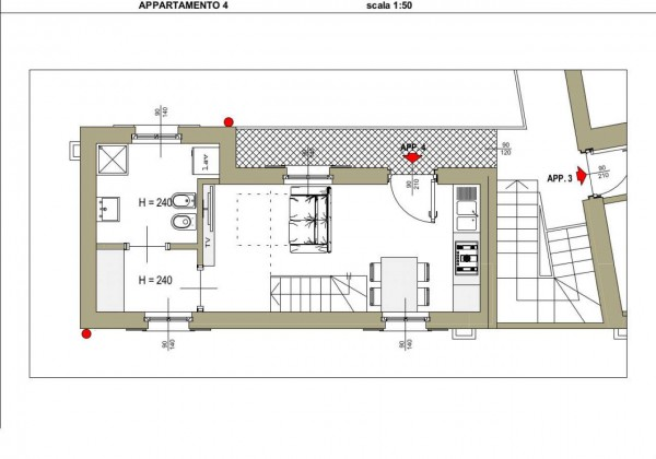 Appartamento in vendita a Besana in Brianza, Centro, 60 mq - Foto 3
