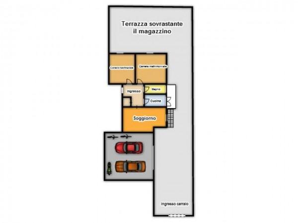 Appartamento in vendita a Brescia, Con giardino, 125 mq - Foto 3