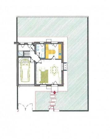 Villetta a schiera in vendita a Borghetto Lodigiano, Residenziale, Con giardino, 171 mq - Foto 3