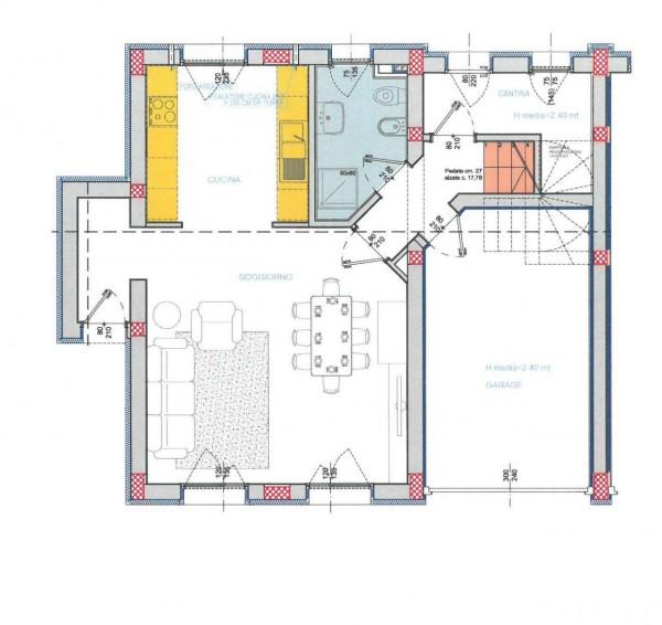 Villetta a schiera in vendita a Lodi, Residenziale A 10 Minuti Da Lodi, Con giardino, 172 mq - Foto 3