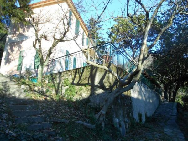 Casa indipendente in vendita a Genova, Adiacenze Via Serra Di Bavari, Con giardino, 140 mq - Foto 3
