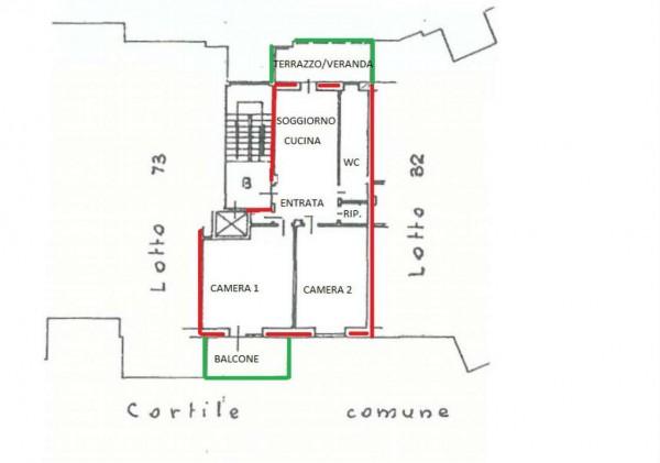 Appartamento in vendita a Alpignano, Centro, Con giardino, 80 mq - Foto 7