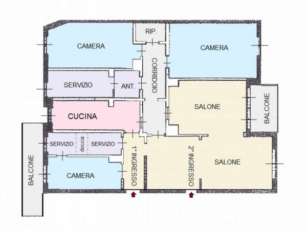 Appartamento in vendita a Monza, Con giardino, 170 mq - Foto 2