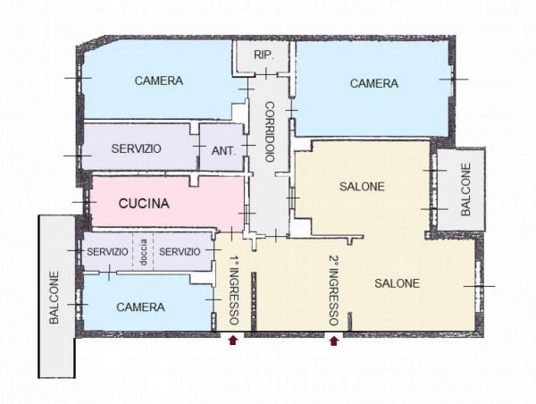 Appartamento in vendita a Monza, Centro, Con giardino, 170 mq - Foto 2