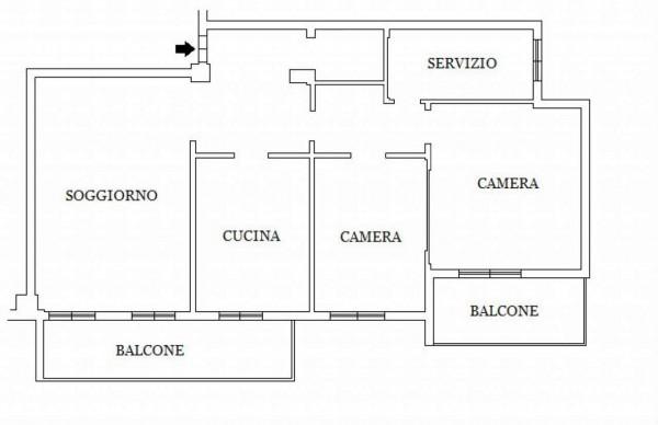 Appartamento in vendita a Monza, S. Biagio, Con giardino, 110 mq - Foto 2