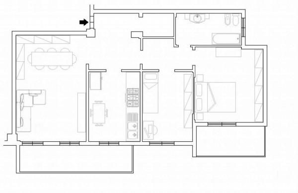 Appartamento in vendita a Monza, S. Biagio, Con giardino, 110 mq - Foto 3