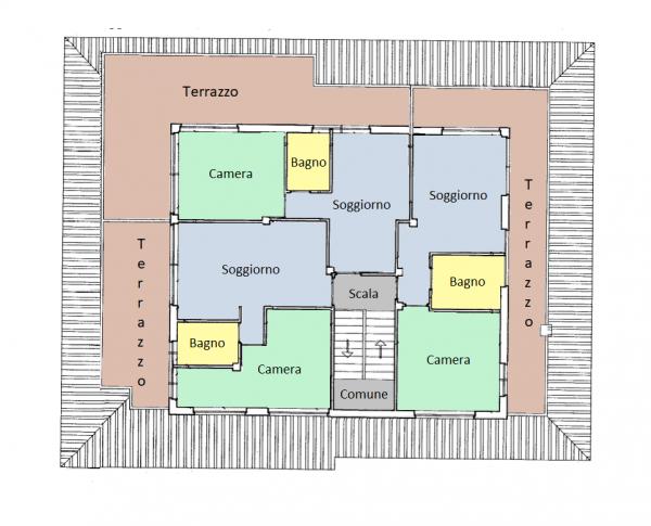 Appartamento in vendita a Spello, Centro, 150 mq - Foto 2