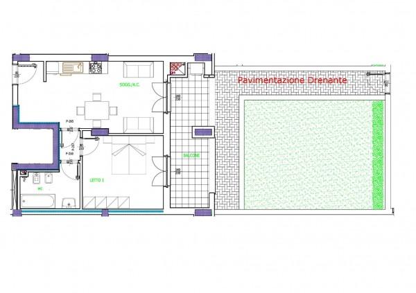 Appartamento in vendita a Roma, Con giardino, 53 mq - Foto 2